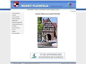 Webseite der Marktgemeinde Pleinfeld