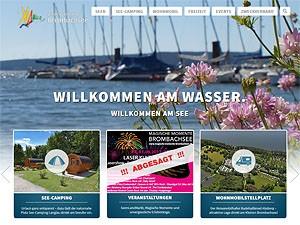 Webseite des Zweckverbands Brombachsee